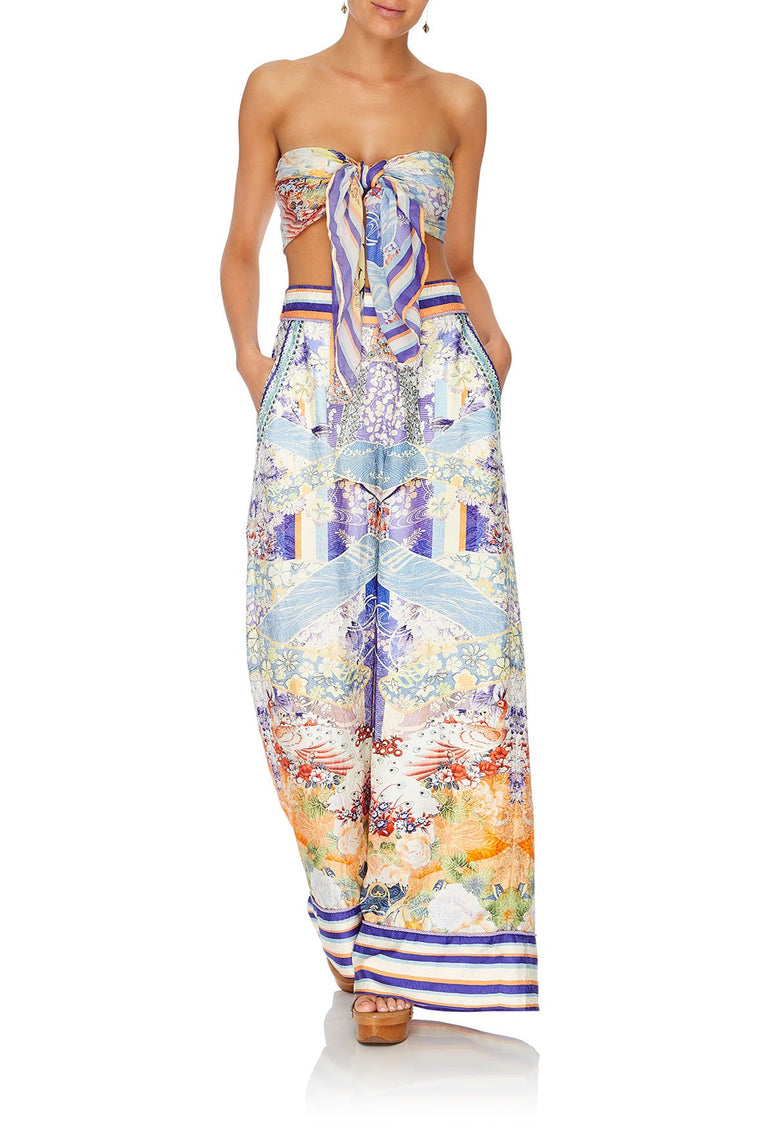 Camilla Wide Leg Pant with Cuffs Girl In The Kimono