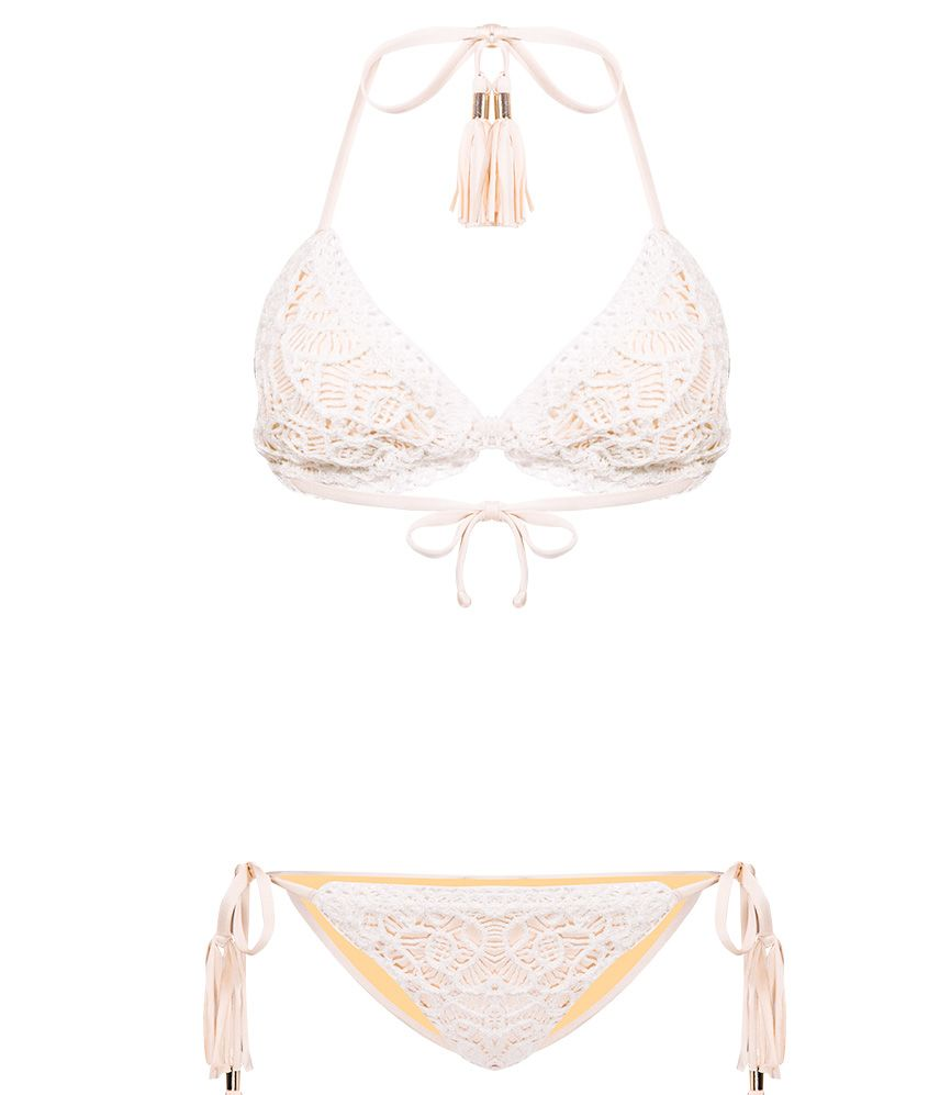 CHIO Embroidered Beige Bikini