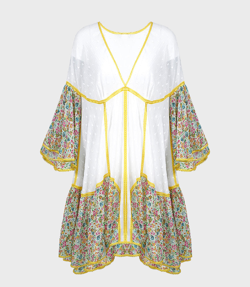 Short Kaftan With Embroidery