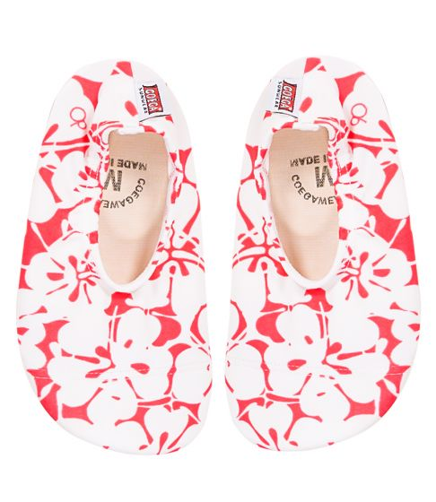 Coega Hibiscus Pattern Pool and Beach Shoes