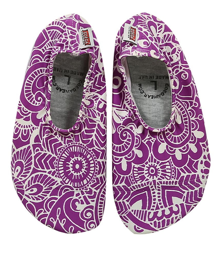 Coega Purple Print Pool and Beach Shoes