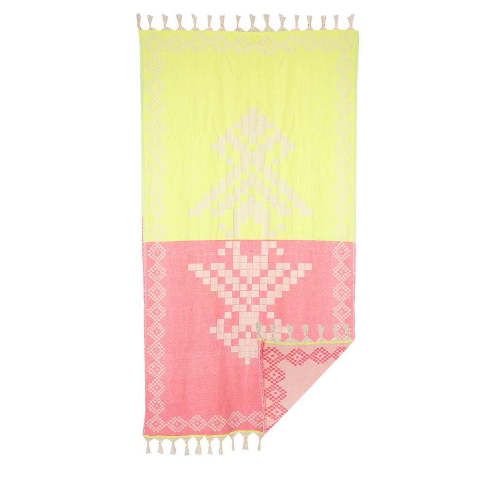 Devotion Towel Neon Lime/Neon Pink