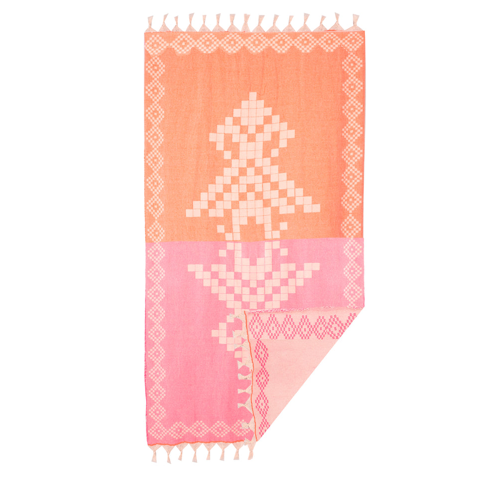 Devotion Towel Neon Pink/Neon Orange