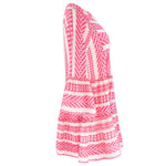 Zakar Short Dress White/Neon Pink