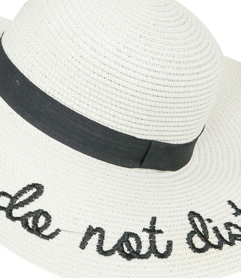 Do Not Disturb Floppy Hat White