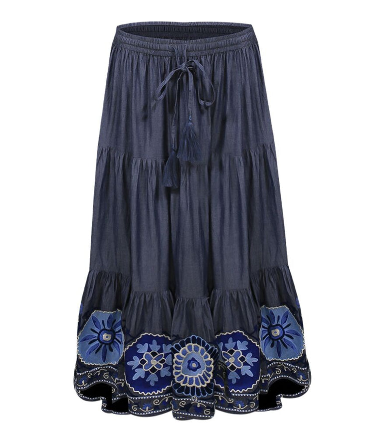 Skirt Glory Chambray Blue