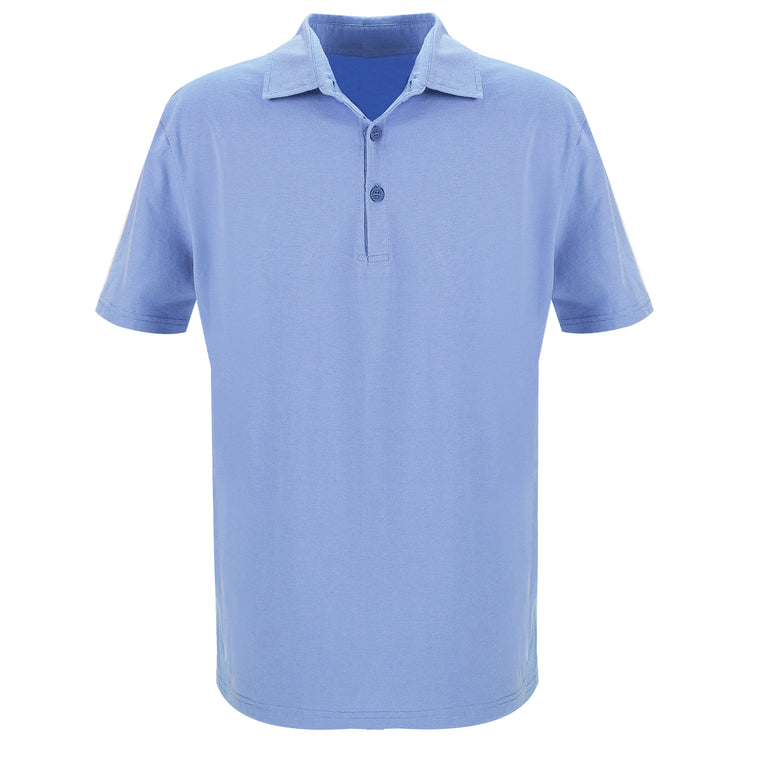 Jersey Polo Shirt Short Sleeve Slate Blue