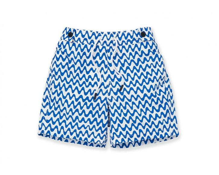 Boys Swim Trunks Copacabana Blue/White