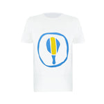 boys designer t shirt in white | blue and yellow graphic t shirt for boys