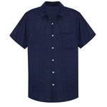 Dark Blue Beach Shirt