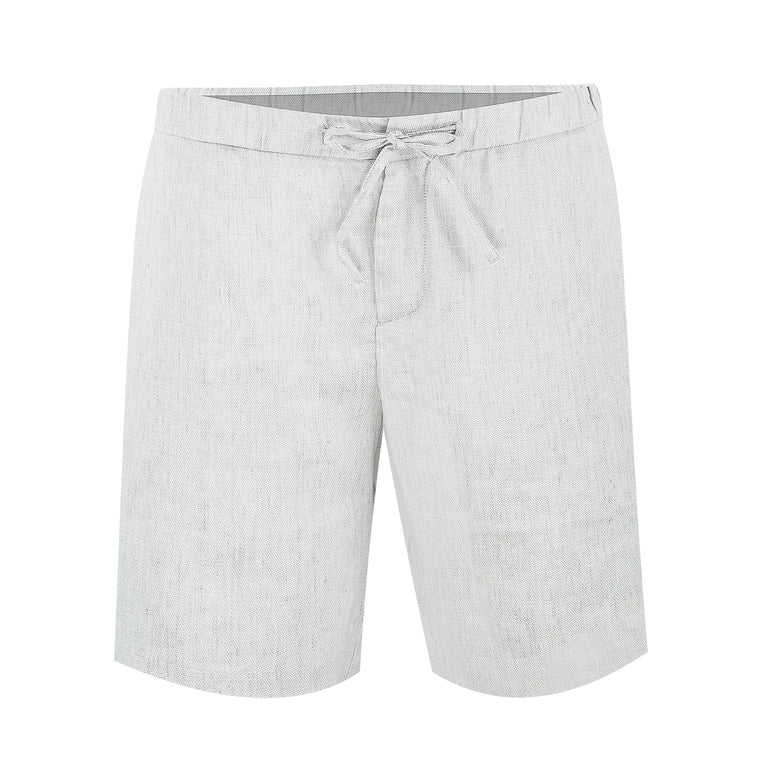 Grey Linen Shorts for Men