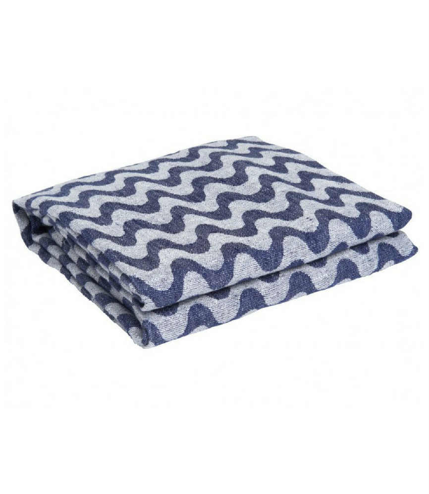Linen Towel Copacabana Navy Blue