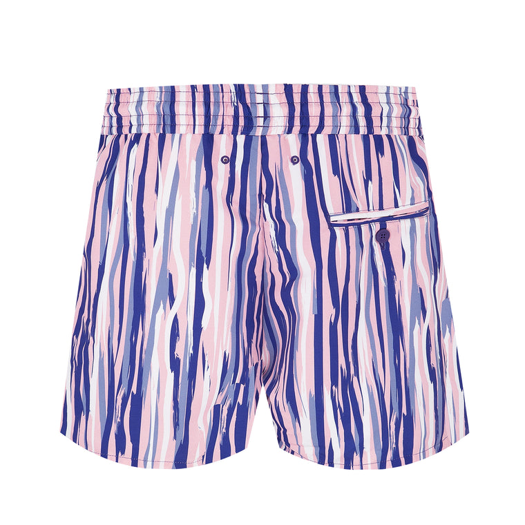Swim Trunks Sport Short Açu Navy/Pink