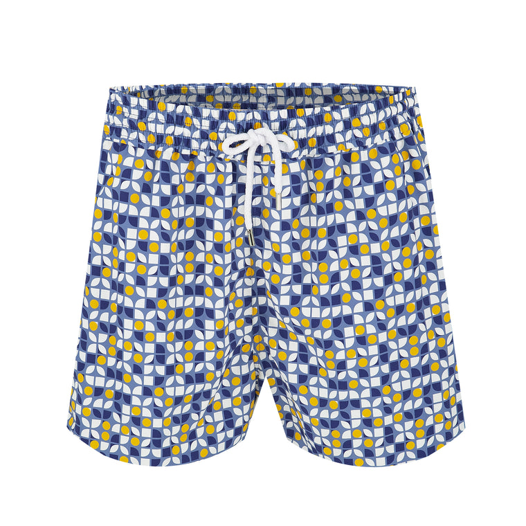 Mens Board Shorts in Mosaic Pattern