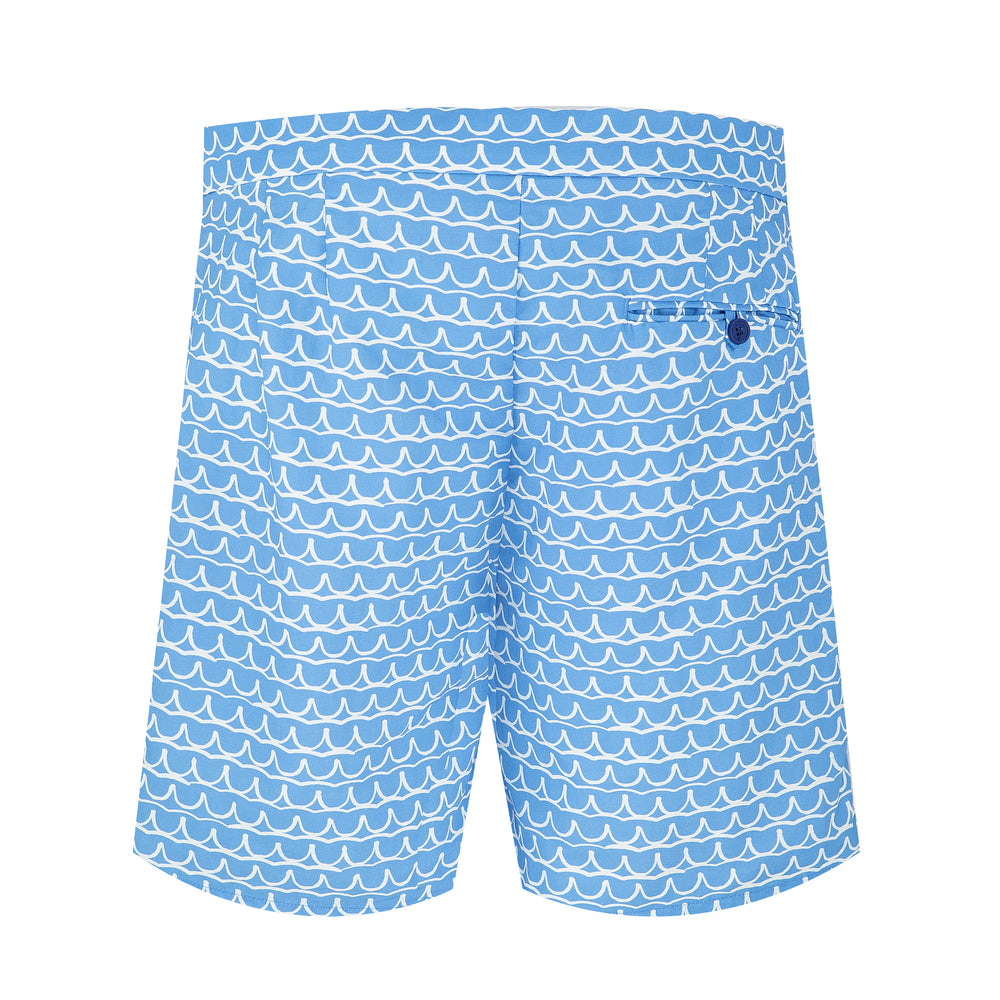 Tailored Swim Shorts in Blue