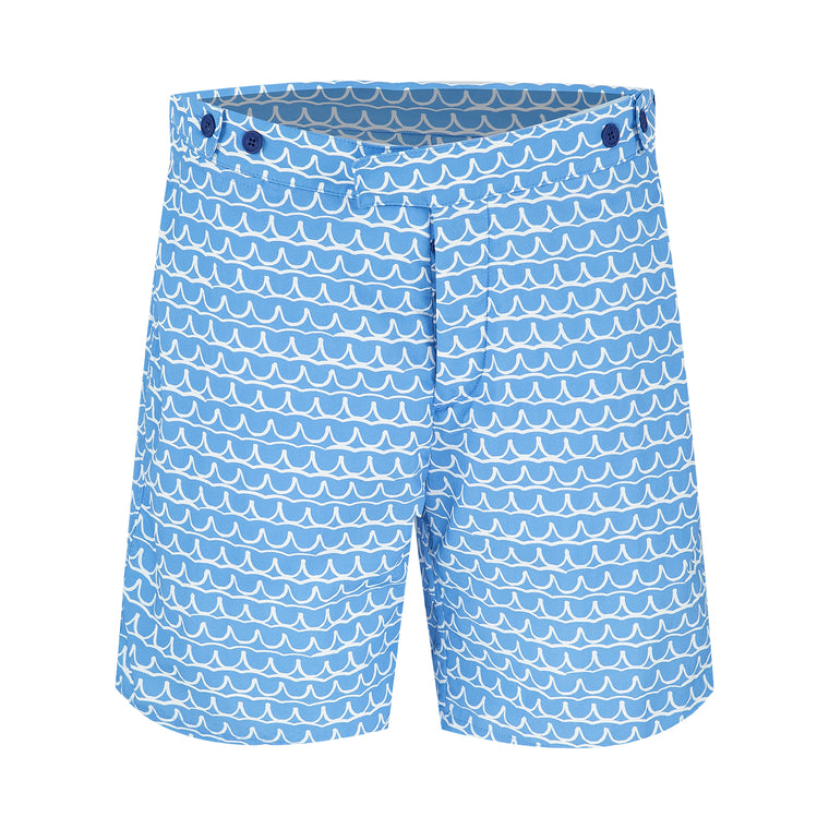 Swim Trunks Tailored Long Planalto Blue/White