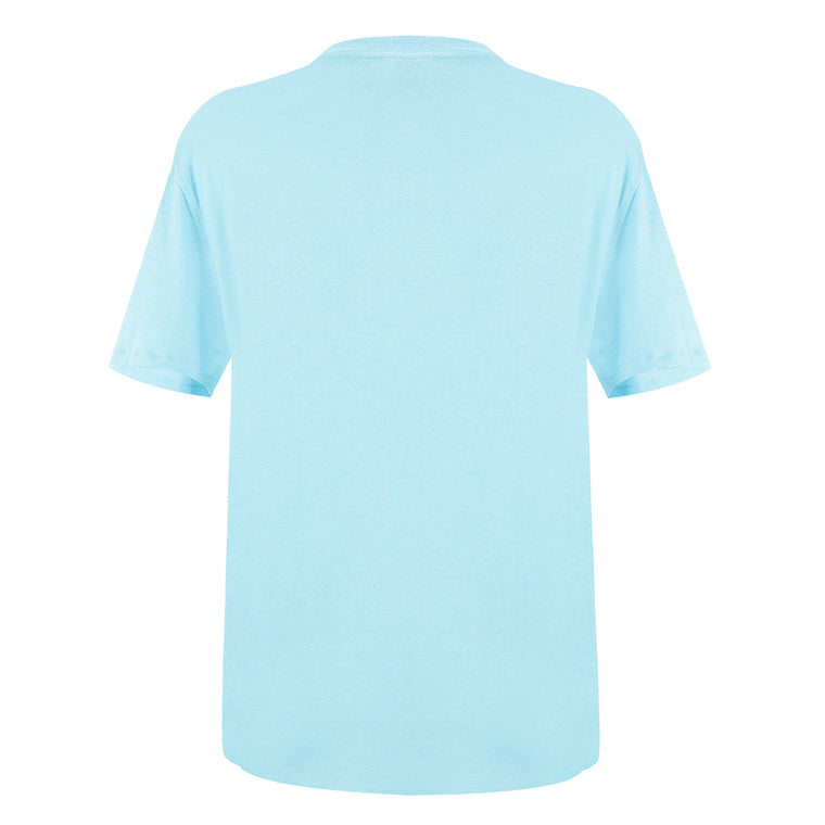 light blue crew neck t shirt