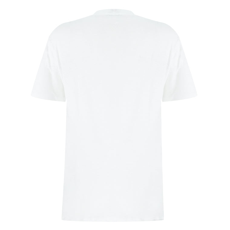 white casual t shirt for men