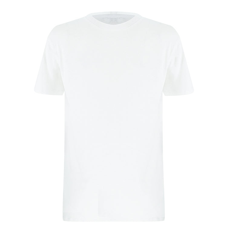 Mens Linen White T Shirt
