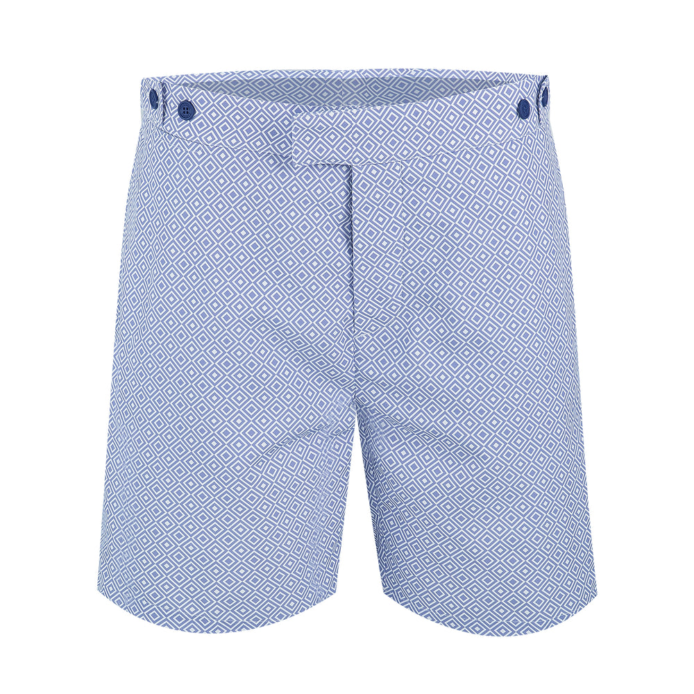 Mens Tailored Swim Trunks in Lilac Purple