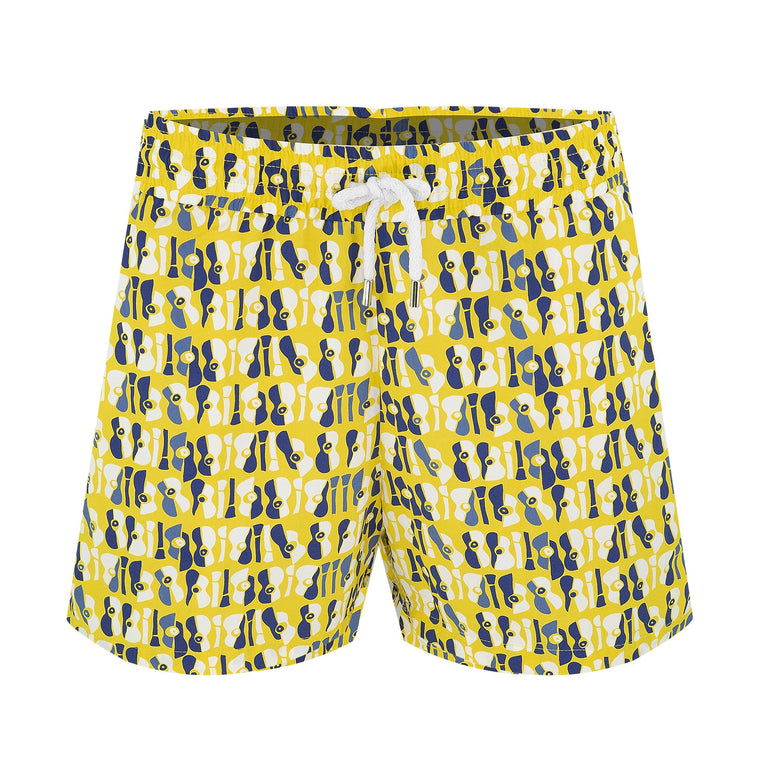 Trunks Sport Short Violao Lemon/Navy