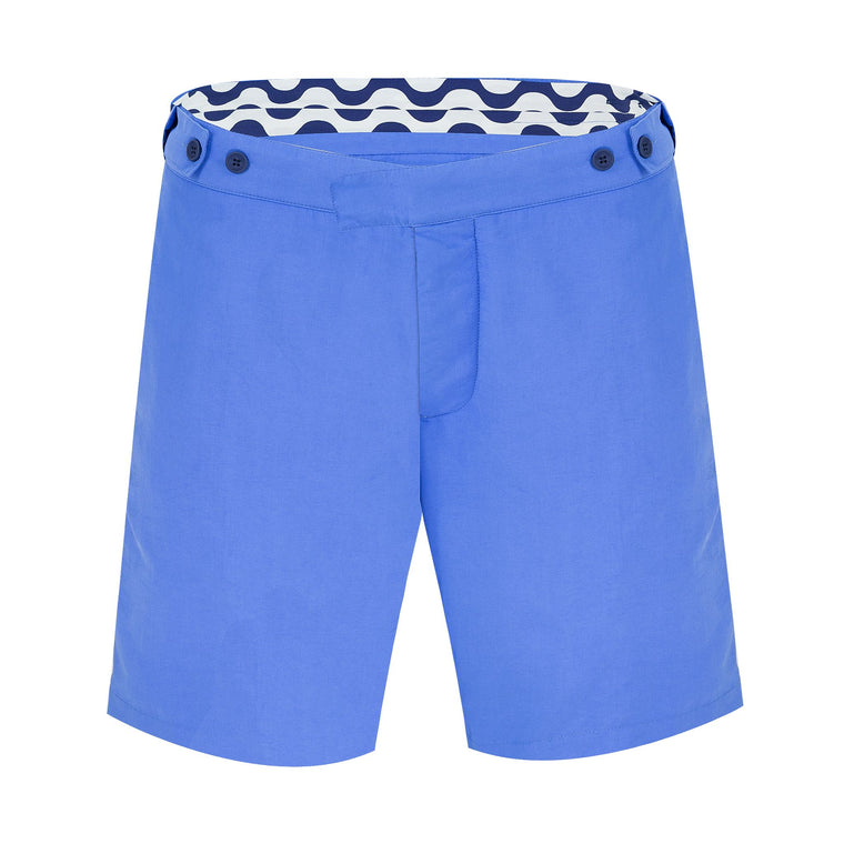 Trunks Tailored Long Block Blue