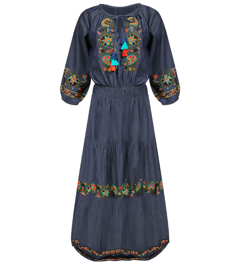 Robe Dress Madison Chambray Multi
