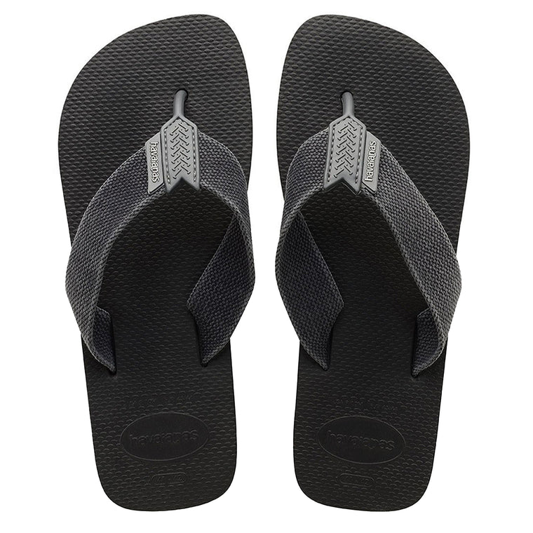 Urban Basic Flip Flops Black/Grey