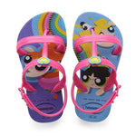 Kids Joy Power Puff Girl Flip Flops Purple