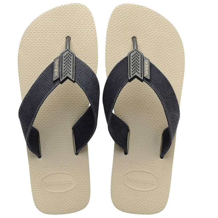 Mens Flip Flops Urban Basic Beige Black