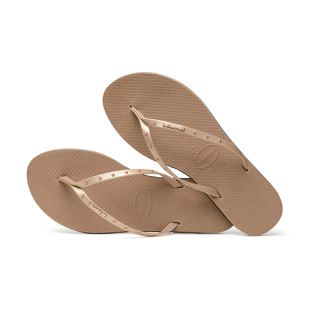 You Maxi Flip Flops Rose Gold
