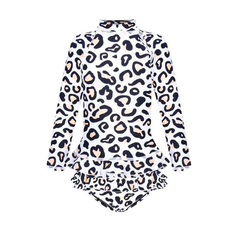 Mini Me Annie Rashie Set Safari Leopard