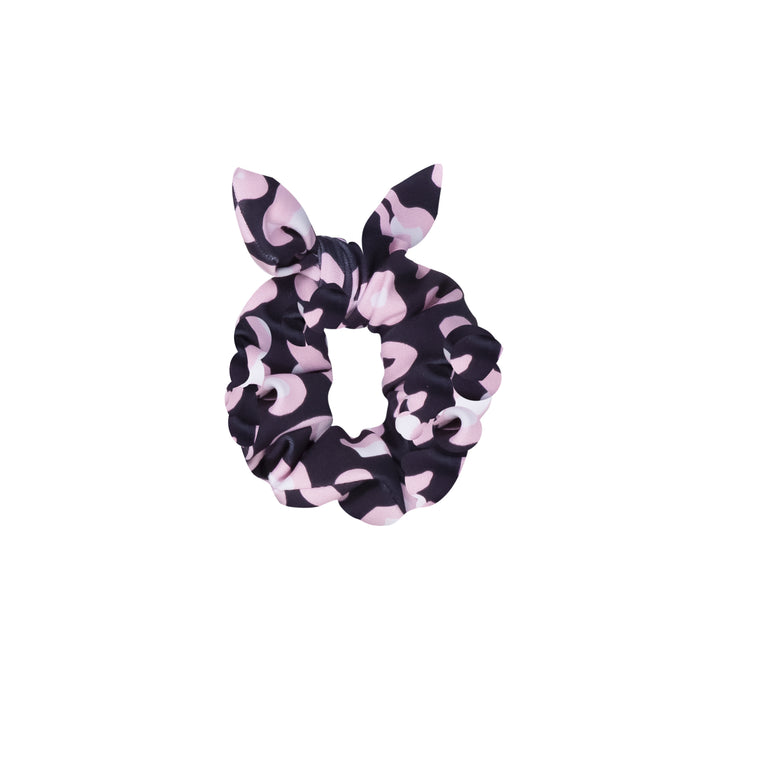 Mini Mimi Scrunchie Onyx Leopard