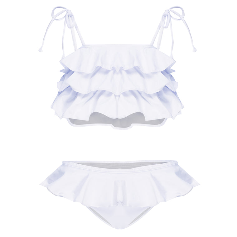 Poppy Bikini Set Fresh White