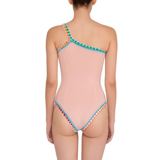 Kiini Luna One Shoulder Maillot One Piece