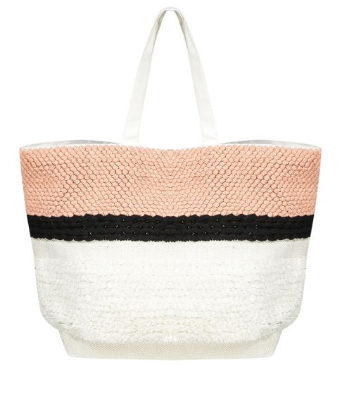 Knot Detail Tote Bag Stripe