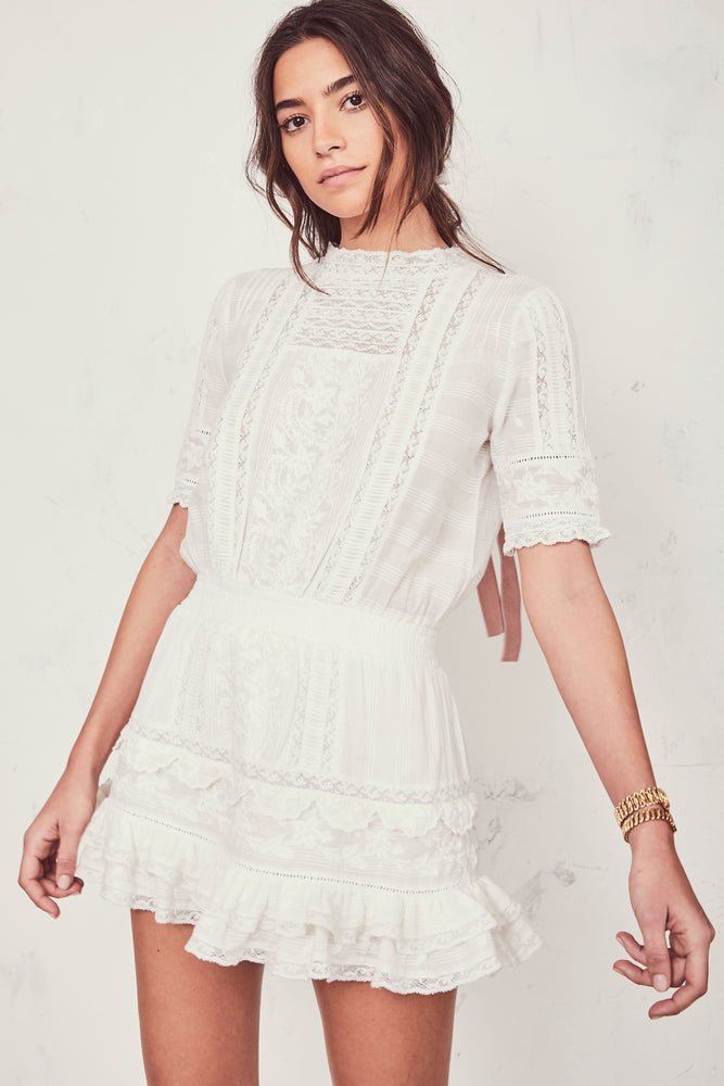 Leighton Dress White