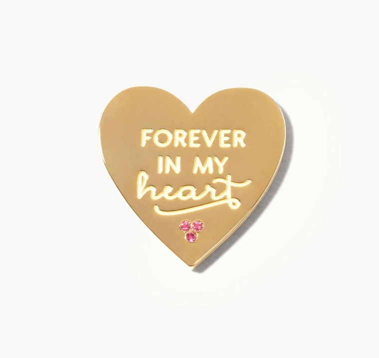 Locket Note Gem Heart Forever In My Heart