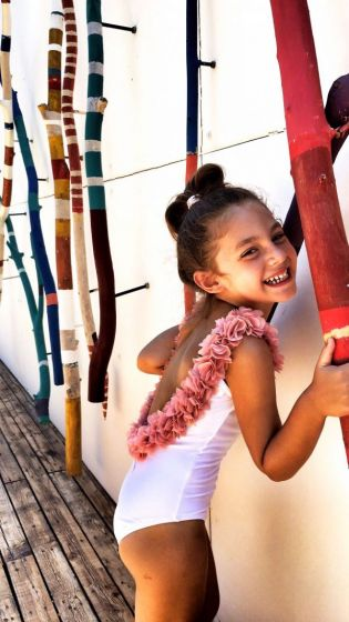 6efb3e8840 Kids After Party White & Dusty Pink One Piece – Sand Dollar Dubai