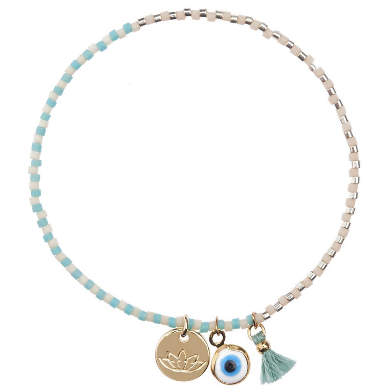 Matilda Bracelet Mint and White