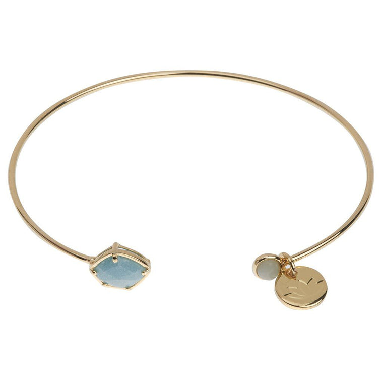 Luv & Bart Ella Bangle Green Amazonite