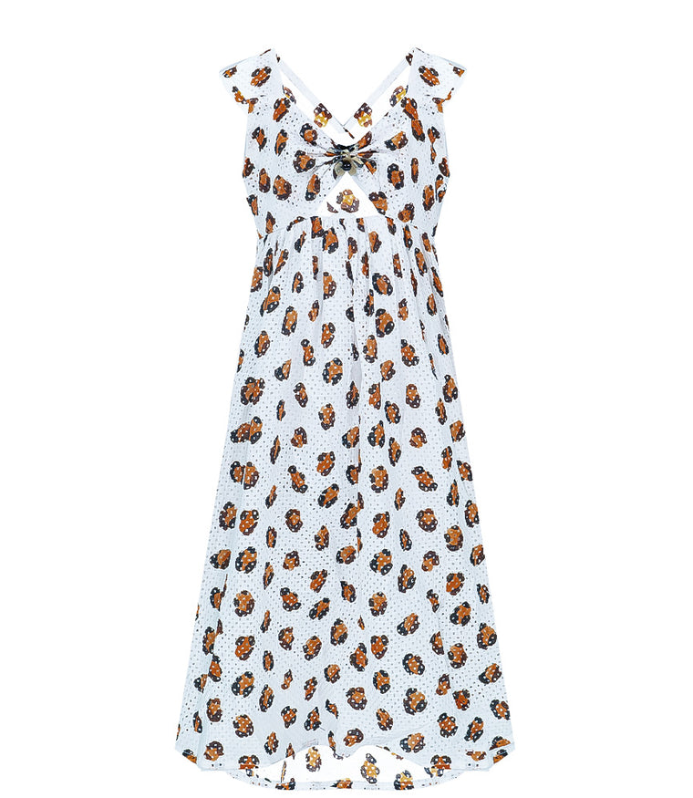 Bumby East Hampton Babydoll Dress in Leopard Print