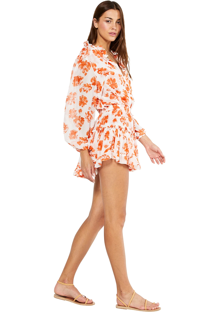 Lorena Dress Orange Tie Dye