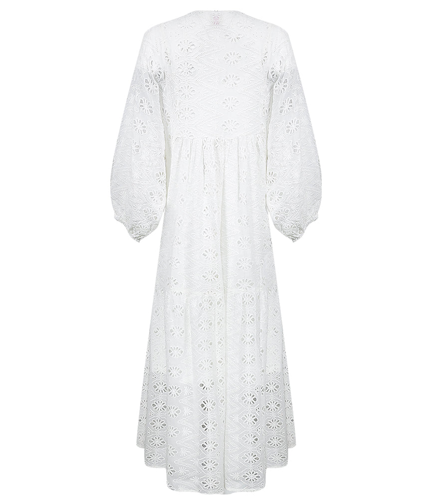 Robe Dress Cherie White