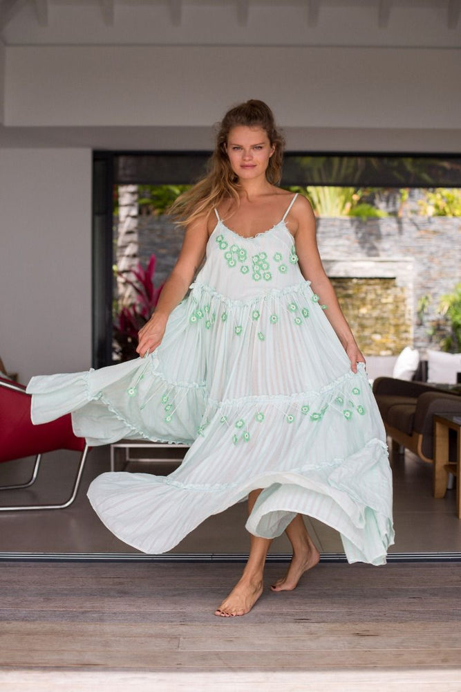 My Beachy Side Love Child Maxi Dress Mint