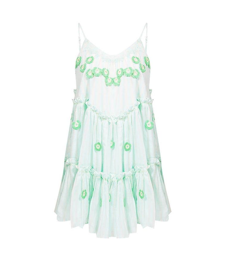 0e82303276f My Beachy Side Love Child Mini Dress Mint