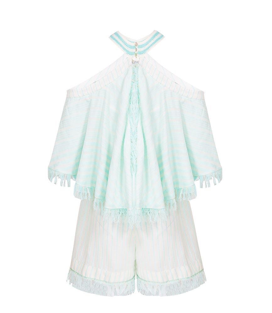 My Beachy Side Love Child Romper Mint