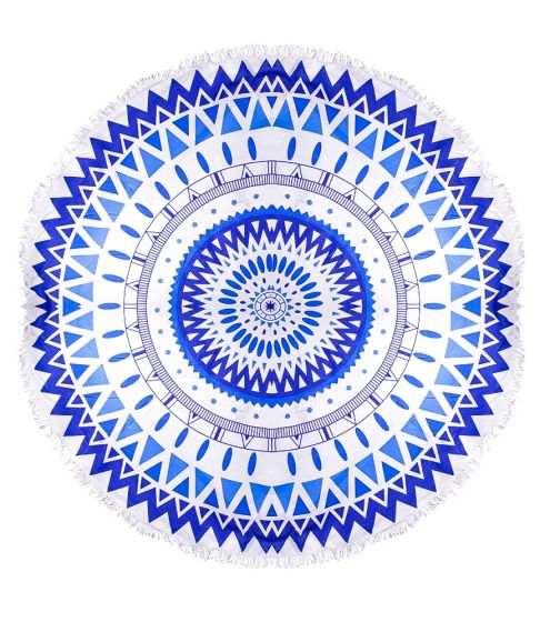 Mykonos Blues Round Towel