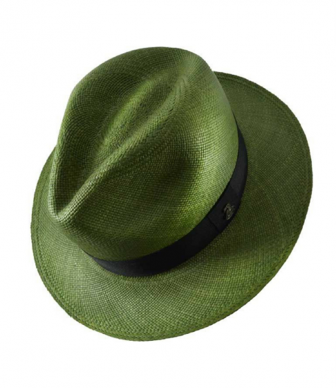 Panama Hat Unisex Classic Olive with Black Band