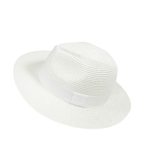 Panama Hat White with White Band